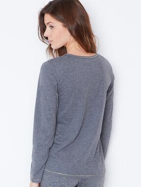 T-shirt inscription gris.