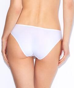 Culotte unie guipure doublée blanc.