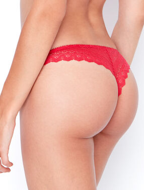 Lace tanga red.