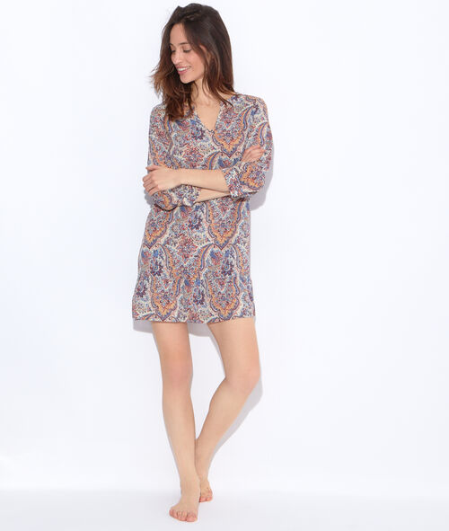 Printed nightdress;${refinementColor}
