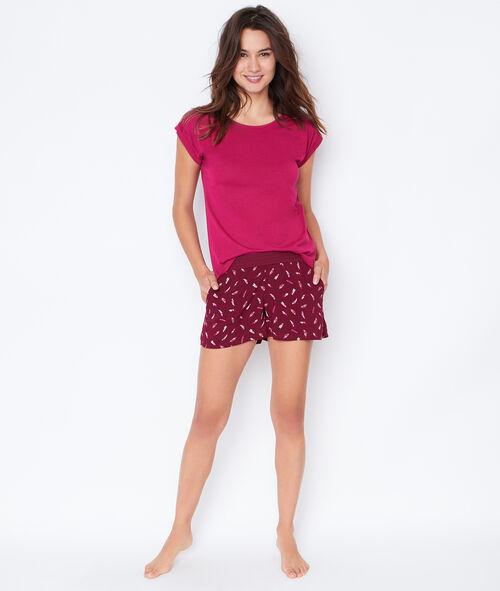 Klasyczna bluzka od piżamy
