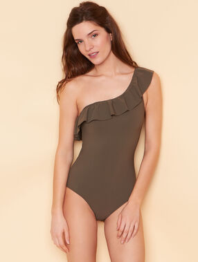 One piece swimsuit khaki.
