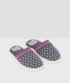 Zapatillas estampado geométrico c.gris.
