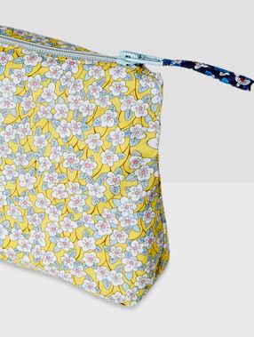 Pochette imprimé liberty jaune pâle.