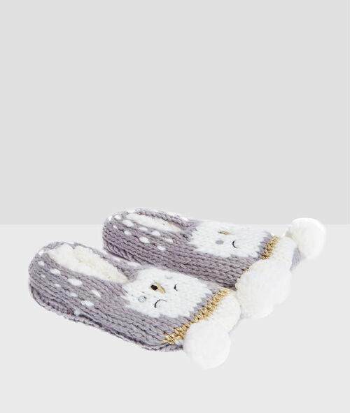 Non-slip knit socks;${refinementColor}