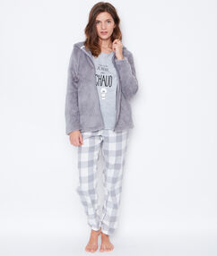 3 pieces pyjama grey.