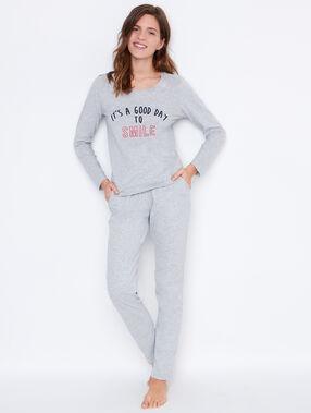 Pyjamahosen gris clair.