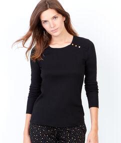 Klasyczna bluzka od piżamy z guziczkami noir.
