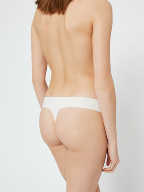 Laser cut thong white.