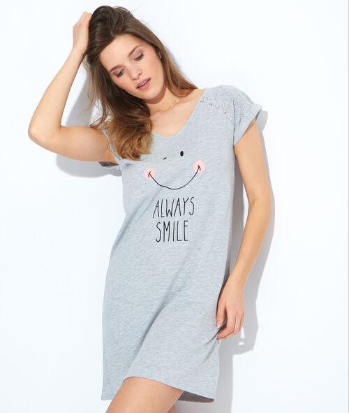 Chemise de nuit imprimé smiley
