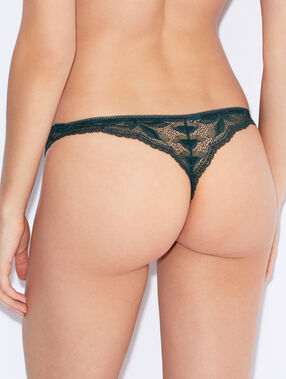 Micro and lace tanga green.