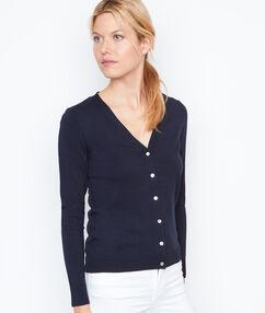 Long sleeves cardigan navy.