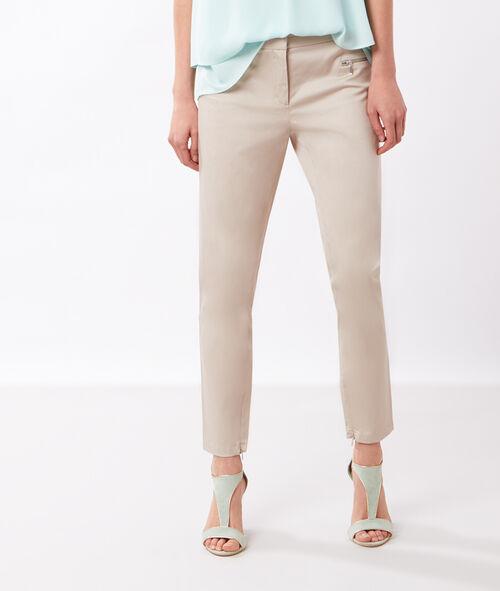 Pantalon 7/8, zippé chevilles