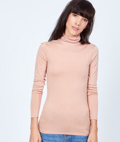 Turttle neck t-shirt pink.
