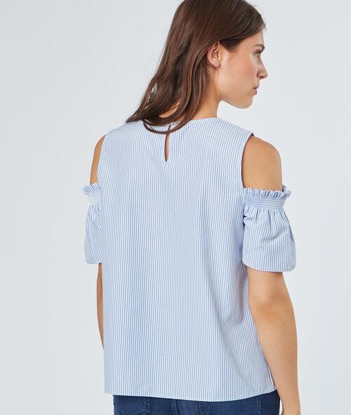 Open shoulder stripped top