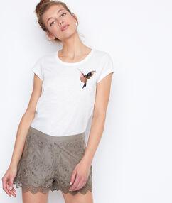 Lace short khaki.