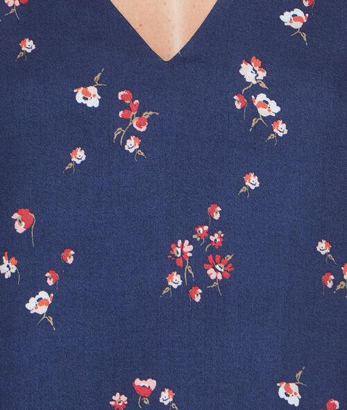Robe fluide imprimée fleurs