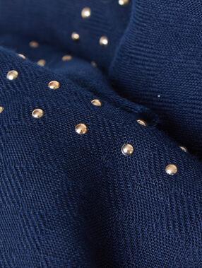 Schal blau.