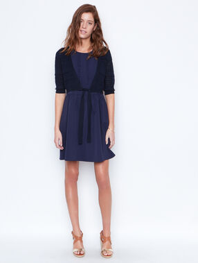 Short cardigan navy.