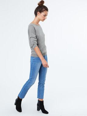 3/4 sleeves sweater grey.