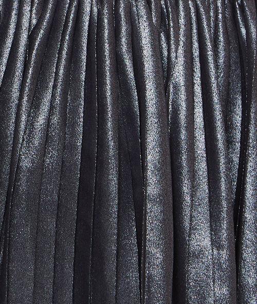 Robe plissée à effet métallisé