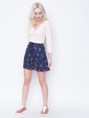 Flowing skirt navy.