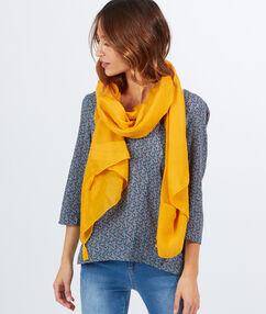 Tassel scarf yellow earth.