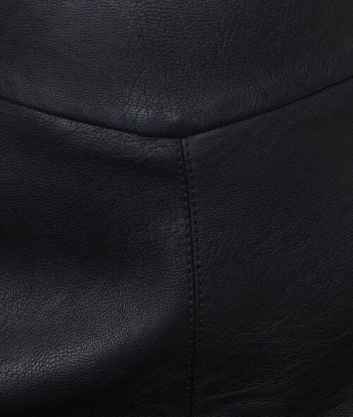 Mini skirt leather effect