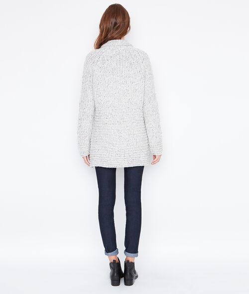 Shawl cardigan in chunky knit