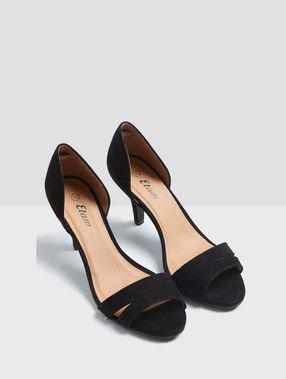 Escarpins ouverts noir.