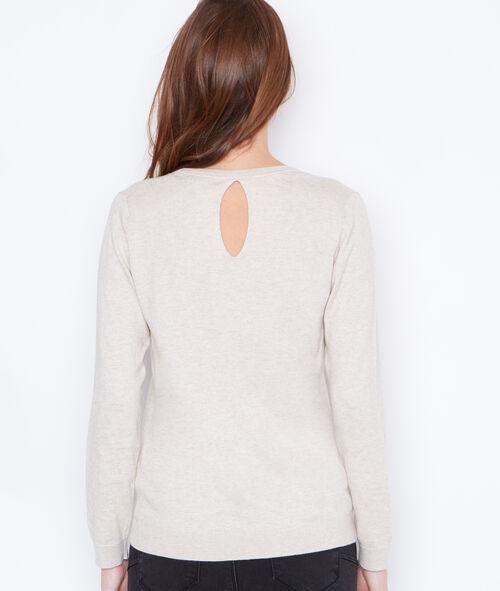 V-neck cashmere cotton sweater
