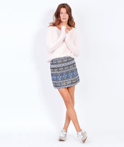 Straight skirt in jaquard