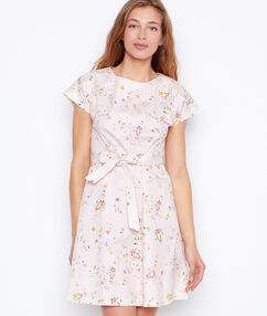 Flowers dress nude.