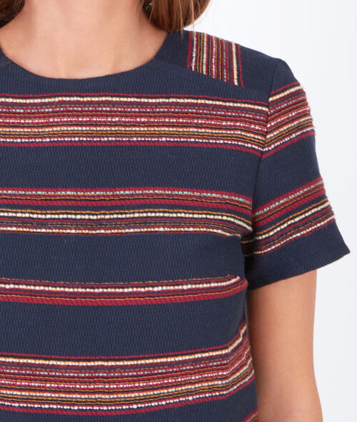Stripe short sleeve top