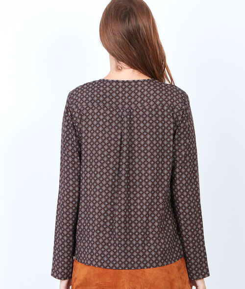 Long sleeve print top