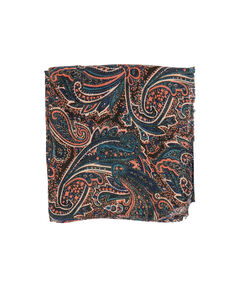 Cashmere print scarf blue/pink.