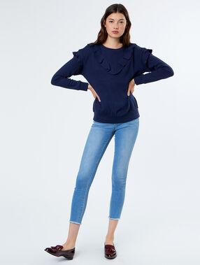 Pullover marineblau.