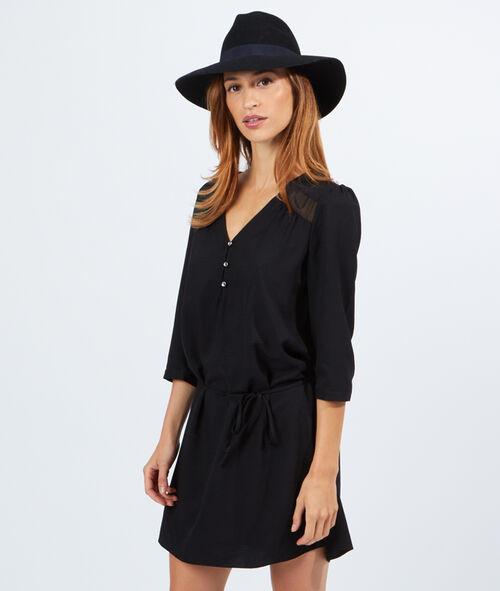 Robe blouse ceinturée