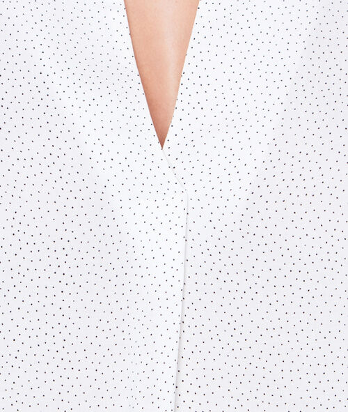 V-neck dotty blouse