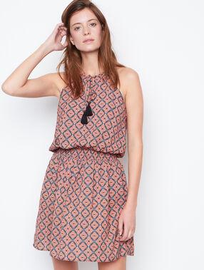 Printed dress safran.