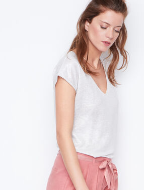Linen t-shirt white.