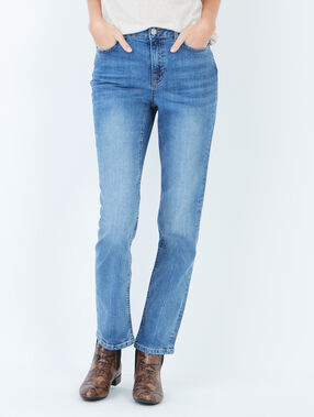 Jean droit medium denim.