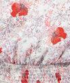 Robe mi-longue imprimée à fleurs