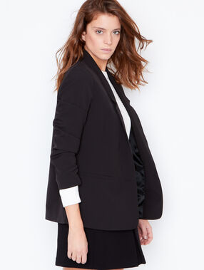 Tailored fitted blazer black.