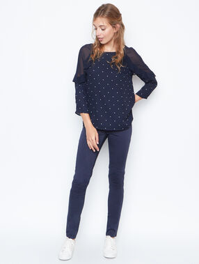 Long sleeves top navy.