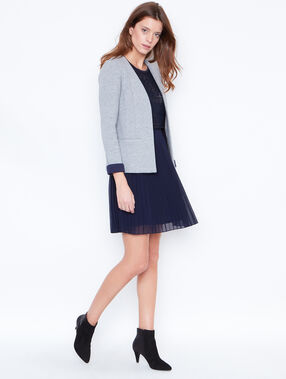 Pleated skirt navy.