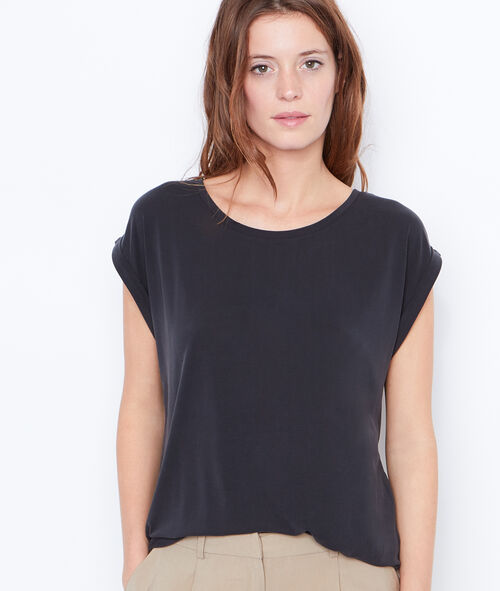 T-shirt col rond à manches courtes
