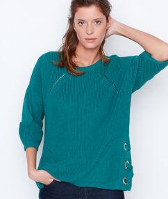 Jersey cuello redondo esmeralda.