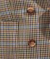 Blazer à carreaux double boutonnage