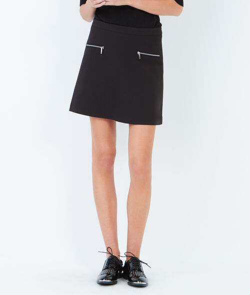 Two zip pockets A-line skirt